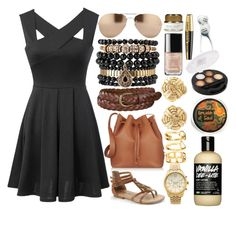 """""""Casual Black Dress"""" by shadow13goddess101 ❤ liked on Polyvore"""