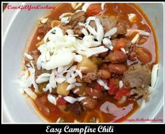 Easy Campfire Chili - warm your families bellies with very little effort!