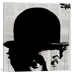 Charlieshat by Loui Jover Painting Print on Wrapped Canvas