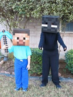 Minecraft Minecraft Pictures, Cool Minecraft, Minecraft Costumes, Boy Birthday, Halloween Party, Video Games, Projects To Try, Gaming, Mom