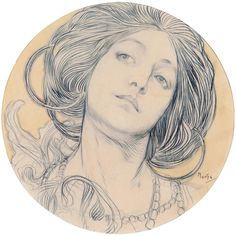 Alfons Maria Mucha (Alphonse Mucha)  Art Nouveau Illustration  Late 19th- to early 20th cen.