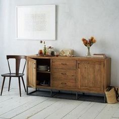 Rustic Wood Buffet for the living room: closed storage to
