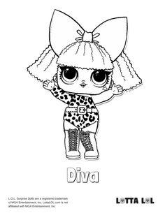 Diva Coloring Page Lotta LOL