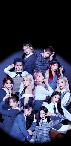 Kpop Girl Groups, Kpop Girls, Kpop Posters, Japanese Girl Group, Wattpad, Kim Min, 3 In One, K Idols, Album Covers