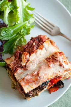 roasted vegetable lasagna...I'd make mine somehow with out all the cheese...but for my family with cheese! looks amazing