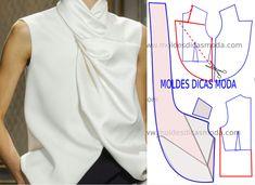 Faça a leitura da transformação do molde base no molde blusa branca feminina para festa atentamente antes de iniciar qualquer outro processo. Imprima o molde base e faça a gradação para o seu tamanho. Depois de obter o seu tamanho de molde base siga o passo a passo do tutorial que segue em baixo.