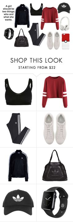"""Adidas Fevas"" by rachelcarroll-i ❤ liked on Polyvore featuring adidas, Fendi, adidas Originals, Topshop, Apple and Beats by Dr. Dre"
