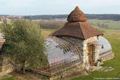 Greenhouse in France. #conservatorygreenhouse