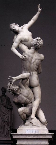 Giambologna, Rape of the Sabines  1581/ 1583  Marble, height 410 cm  Loggia dei Lanzi, Florence