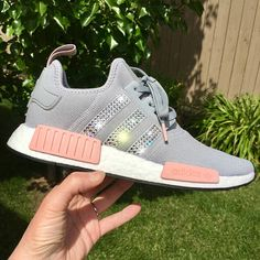 new products 209cc 2579a Bling Bling shoes...Beautiful Adidas NMD Crystal Dark Grey Pink