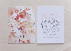 Watercolor stationery, amazing for a springtime wedding #wedding #bride #groom #stationary #invitation #RSVP #savethedate #thankyou #watercolour #spring #floral #elegant #gardnes #Melbourne www.thepavilionfitzroygardens.com.au