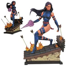 BLOG DOS BRINQUEDOS: Marvel Premier Collection Psylocke Statue