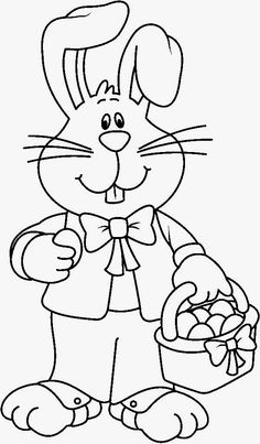 """Free Printable Easter Bunny Coloring Pages from Collection Of Easter Coloring Pages. Easter is a celebration of Christians who commemorate the event of Jesus Christ being revived (or """"resurrected""""). Easter celebrations are popular wit. Easter Coloring Pages Printable, Easter Coloring Sheets, Easter Bunny Colouring, Bunny Coloring Pages, Coloring Pages For Grown Ups, Free Coloring Pages, Coloring For Kids, Adult Coloring, Easter Art"""