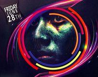 Holi Festival Flyer Template -Festival of Colors- by Serhat Özalp, via Behance