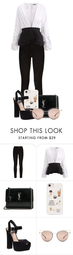 """""""Untitled #375"""" by dcxiong83 ❤ liked on Polyvore featuring Paige Denim, Yves Saint Laurent, Casetify, Steve Madden and Fendi"""