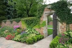 walled garden with garden gate