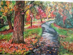 Acrylic painting called 'Autumn' by Sheila Cronin Fleming