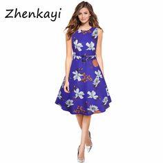 a5a166a83140 2017 Vintage V Neck print Women Dress Retro Robe Rockabilly Hepburn Party  dresses Plus Size Feminino Vestidos