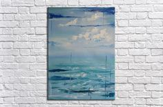 Seascape, Vertical Painting, Abstract Art Painting, Vertical Art, Ocean Painting, Large Wall Art, artwork original, Large Original Painting Oil Painting For Sale, Oil Painting On Canvas, Canvas Wall Art, Large Wall Art, Beautiful Paintings, Original Paintings, Painting Abstract, Handmade Gifts, Artist