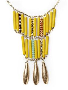 Piperlime Mixed Bead Statement Pendant Necklace $46