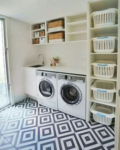 Laundry room storage ideas include installation of stock cabinetry, racks, shelves, etc. in a smart way to make the room look elegant and organized. room ideas organization 15 Perfect Small Laundry Room Storage Ideas To Consider 2
