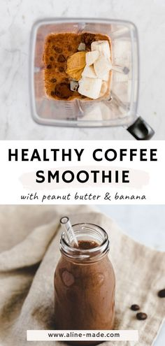 Coffee Breakfast Smoothie, Coffee Banana Smoothie, Coffee Smoothie Recipes, Banana Coffee, Banana Breakfast, Healthy Breakfast Smoothies, Homemade Breakfast, Coffee Recipes, Green Drink Recipes