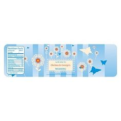 """Water Bottle Label  ID: WBL-132   Label Size: 7w"""" x 2h""""   Starting at $0.70ea. Labels usually ship in 1-3 business days.  Rush shipping available. This label sells in quantities of 12."""