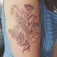 I finally got my tattoo! Originally designed by me, traced and tattooed by Olivia Harrison in Vancouver, BC. #tattoos #floraltattoo