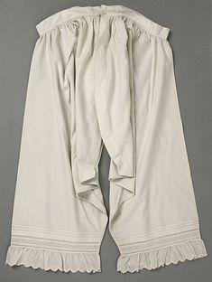 Drawers | American | The Metropolitan Museum of Art Vintage Underwear, Vintage Lingerie, Ropa Interior Vintage, Victorian Fashion, Vintage Fashion, Garters And Stockings, Civil War Dress, Everyday Dresses, Vintage Outfits