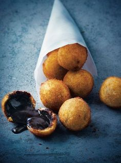 Amazing chocolate croquettes from French pastry chef Philippe Conticini.