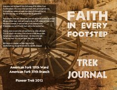 Trek Journal - great for girls camp - just modify the questions for our Girls Camp theme.