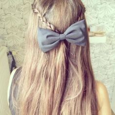 Top 50 Cute Girly Hairstyles with Bows Girly Hairstyles, Pretty Hairstyles, Braided Hairstyles, Braided Updo, Love Hair, Gorgeous Hair, Hair Day, Hair Looks, Her Hair
