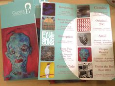 Schedules have arrived Cupola Gallery  detailing our exhibition programme for the year.  Next up 'Perception' from 18 March. #sheffieldis