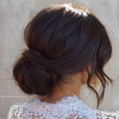 Bridesmaid Hair Updo, Bridal Hair Updo, Wedding Hair And Makeup, Bridal Makeup, Chignon Wedding, Prom Hair, Brunette Bridal Hair, Brunette Updo, Brunette Bride