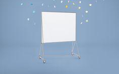 Design Thinking Möbel - Whiteboard DT-Line | Das Whiteboard ist mobile Stellwand, Projektionsfläche, Pinnwand und Raumteiler in Einem. Es ist magnethaftend, beidseitig beschreibbar und platzsparend ineinander stapelbar.