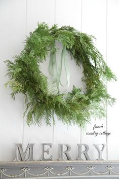 cedar branch wreath