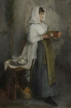 .:. Ζαχαρίας Ιωάννης ή Ζαχαριάς – Ioannis Zacharias [1845-1873;] -Όρθιο κορίτσι, 1866-73
