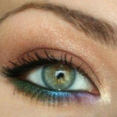 Rainbow boho makeup a more wearable version of peacock colors