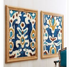 Use a sticky mounting board or adhesive (mod podge?) and add interesting fabric to a frame