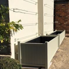 Made to measure, extra large wooden garden trough planters, and 2 metres lon. Made to measure,
