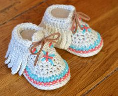 Crochet Pattern Baby Shoes Native American Moccasins 3 Sizes Easy Photo…