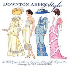 Downton Abbey Style Paper Dolls