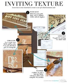 Inviting Texture - Learn how to mix materials to create a one-of-a-kind invitation suite