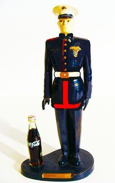 Coca-Cola Rare Marine Statue 1956