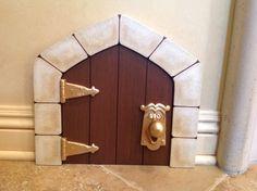 Mini Alice in Wonderland Door 12 3/4 x 11 3/4 by pixiepainting