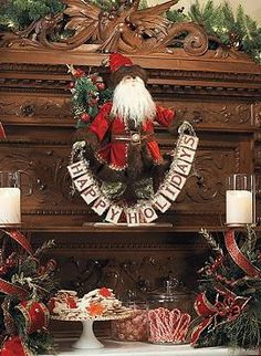 Spelling out a cheerful holiday message your guests are sure to love, the Happy Holidays Santa will add joy and festive character to your Christmas display.