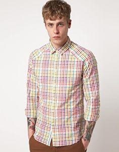Shirt Multi Coloured With Back Pocket Detail Cool Walls, Pocket Detail, Asos Online Shopping, Latest Fashion Clothes, Women Wear, Mens Fashion, Shirt Dress, Mens Tops, Shirts