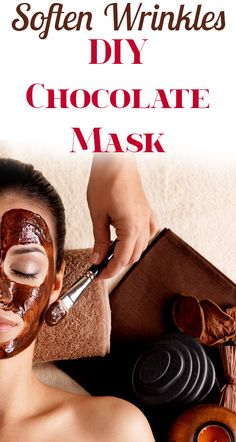 DIY Chocolate Mask, Helps with acne and wrinkles.