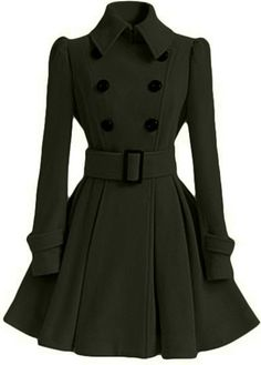 Long Sleeve Belted Coat