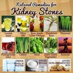 Natural Remedies for Kidney Stones. #kidney #kidneydiseases #renal #naturalremedies #pinterest
